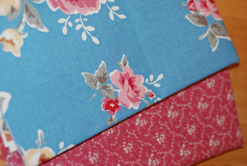 Japanese Roses & Pink Flowers Cotton Fabric Bundle...1/2 yard cuts-japanese, roses, shabby, pink, blue, cotton, canvas, patchwork, quilting, sewing