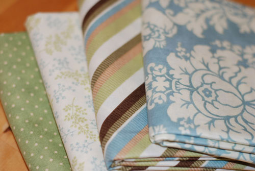 Blue & Green Flowers, Stripes & Dots Mixed Cotton Fabric Bundle....1/2 yard cuts-cotton, fabric, sewing, patchwork, Moda, shangra-li, 3 sisters, blue, green, flowers, stripes, dots