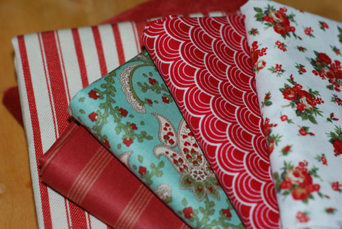 Christmas Fabrics Cotton Fabric Fat Quarter Bundle-cotton, fabric, sewing, quilting, patchwork, moda, joel dewberry, stripes, flowers, paisley, velvet