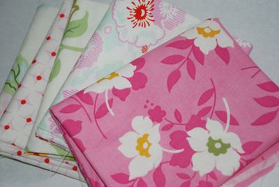 Heather Bailey Nicey Jane Pinks FQ Bundle-cotton, fabric, nicey, jane, heather, bailey, free spirit, fabrics, pink, fat quarters, fq, bundle