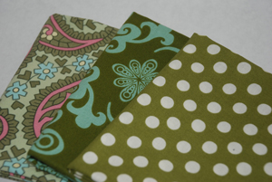 Lovely Greens FQ Bundle 1-cotton, fabric, amy butler, charm, kaffe, fassett, spot, green, anna maria horner, chocololate, loll