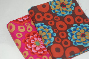 Kaffe Fasset Bubble Flowers FQ Bundle-cotton, fabric, kaffe, fassett, bubble, flowers, westminster, new, dots, pink, tan, brown, blue, des