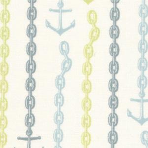 Moda Tula Pink 23034-19 Neptune Cotton Fabric-tula pink, neptune, anchors, cotton, fabric, moda, sewing,