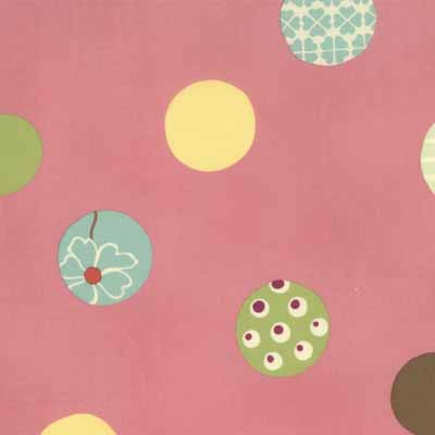 Moda Momo's Wonderland 32104-12 Dot Print Cotton Fabric-momo's, wonderland, cotton, fabric, moda, sewing, whimsical, patchwork, pink, dot