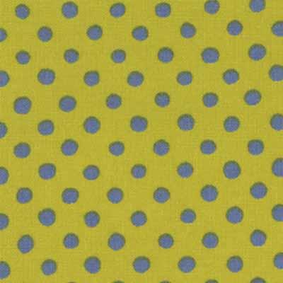 Moda Momo's Wonderland 32108-30 Green Blue Dots Cotton Fabric-momo's wonderland, cotton, fabric, moda, dots, green, blue
