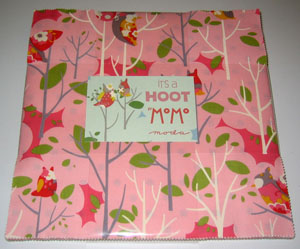 Moda It's A Hoot by Momo's Cotton Fabric Layer Cake-layer cake, moda, precut, momo's, it's, a, hoot, cotton, fabric, 10 inch, squares, patchwork