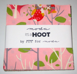 It's A Hoot by Momo's for Moda Cotton Fabric Charm Pack-cotton, fabric, momos, it's a hoot, moda, charm, pack, quilting, patchwork
