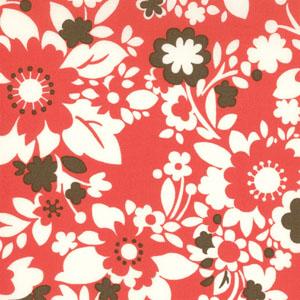 Momo's It's A Hoot Cherry Flowers Cotton Fabric 32374-12-