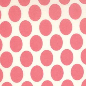 Momo's It's A Hoot Marshmallow Raspberry Dots Cotton Fabric 32375-11-