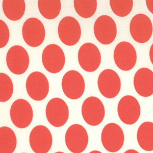 Momo's It's A Hoot Marshmallow Cherry Dots Cotton Fabric 32375-12-