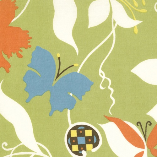 Moda Chrysalis by Sanae Cotton Fabric Emergence Green 32420-11-moda, sanae, chrysalis, fabric, cotton,
