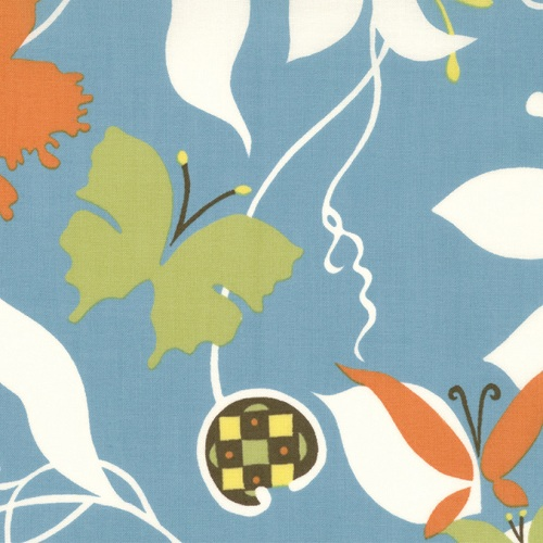 Moda Chrysalis by Sanae Cotton Fabric Emergence Turquoise 32420-12-moda, sanae, chrysalis, fabric, cotton,