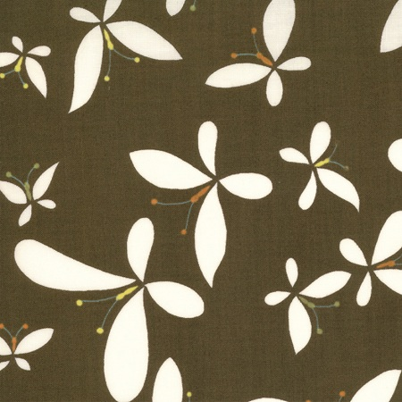 Moda Chrysalis by Sanae Cotton Fabric Release Brown 32422-13-moda, sanae, chrysalis, fabric, cotton,