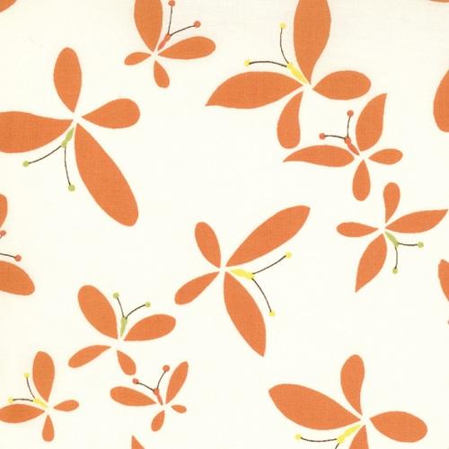 Moda Chrysalis by Sanae Cotton Fabric Release Cream Orange 32422-17-moda, sanae, chrysalis, fabric, cotton