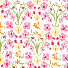 Patty Young Sanctuary Orchid Feng Shui Sherbert Cotton Fabric DS4713-Sher-D-cotton, fabric, sherbert, orchid feng shui, pink, white, floral, patty young, michael miller, yardag