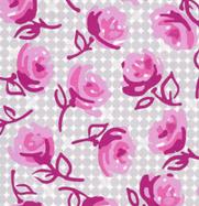 Erin McMorris Weekends Grey Rose Dot EM22Grey-erin, mcmorris, weekends, roses, vintag, grey, rose, dots, free spirit fabrics