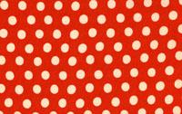 Kaffe Fasset Tomato Spot Cotton Fabric GP70-cotton, fabric, dot, spot, kaffe, fassett, westminster, tomato, red, white
