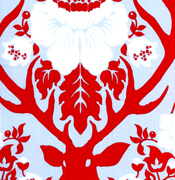 Joel Dewberry Deer Valley Antler Damask Sky JD22.SKYXX-joel dewberry, deer, valley, free, spirit, fabrics, cotton, quilting, sewing, modern, contemporary,