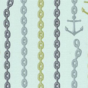 Moda Tula Pink 23034-12 Neptune Cotton Fabric- tula pink, neptune, anchors, cotton, fabric, moda, sewing,