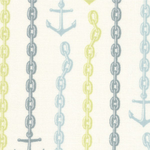 Moda Tula Pink 23034-19 Neptune Cotton Fabric-tula pink, neptune, anchors, cotton, fabric, moda, sewing,
