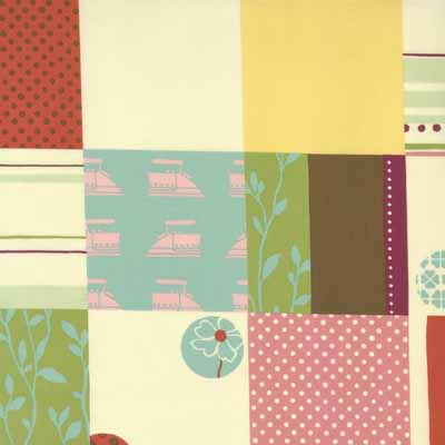 Moda Momo's Wonderland 32101-12 Patchwork Print Cotton Fabric-