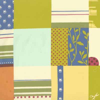 Moda Momo's Wonderland 32101-14 Patchwork Print Cotton Fabric-momo's, wonderland, cotton, fabric, moda, sewing, whimsical, patchwork