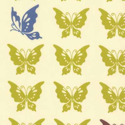 Moda Momo's Wonderland  32105-14 Butterflies Cotton Fabric-moda, wonderland, cotton, fabric, momos, butterflies