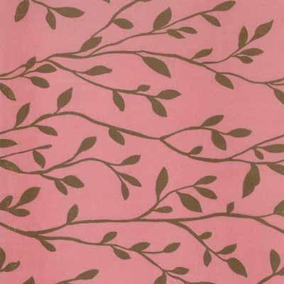 Moda Momo's Wonderland 32107-25 Pink Brown Vine Cotton Fabric-momo's, wonderland, cotton, fabric, moda, sewing, whimsical, patchwork