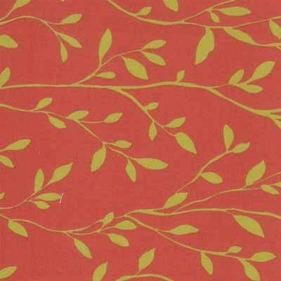 Moda Momo's Wonderland 32107-34 Red Vine Print Cotton Fabric-momo's, wonderland, cotton, fabric, moda, sewing, whimsical, patchwork, red, vine, gold