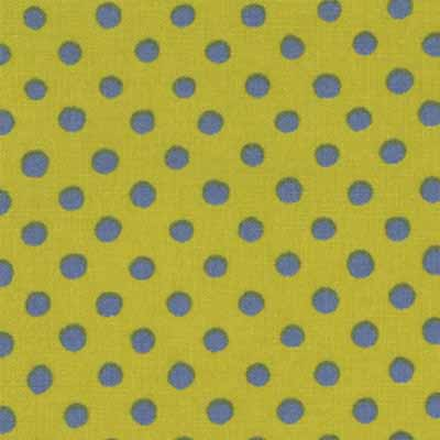 Moda Momo's Wonderland 32108-30 Green Blue Dots Cotton Fabric-momo's wonderland, cotton, fabric, moda, dots, green, blue