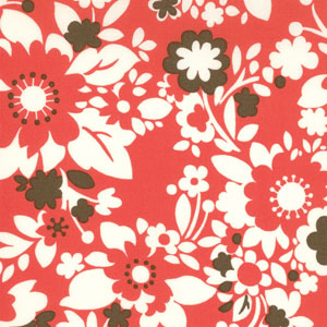 Momo's It's A Hoot Cherry Flowers Cotton Fabric 32374-12-