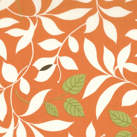 Moda Chrysalis by Sanae Cotton Fabric Butterfly Garden Orange 32421-19- 