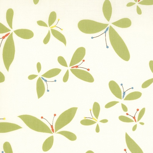 Moda Chrysalis by Sanae Cotton Fabric Release Cream Green 32422-14-moda, sanae, chrysalis, fabric, cotton,