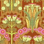 Amy Butler Soul Blossoms Fuschia Tree Carmine Cotton Fabric-