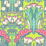 Amy Butler Soul Blossoms Fuschia Tree Chartreuse Cotton Fabric-amy, butler, soul, blossoms, cotton, fabric, fuschia, tree, chartreuse