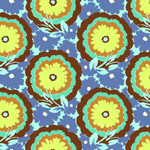 Amy Butler Soul Blossoms Cyan Buttercups Cotton Fabric-cotton, fabric, amy butler, soul blossoms, cyan, buttercups, new, modern, designer