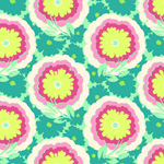 Amy Butler Soul Blossoms Spearmint Buttercups Cotton Fabric-cotton, fabric, amy butler, soul blossoms, cyan, buttercups, new, modern, designer
