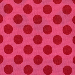 Michael Miller Pink Ta Dot Cotton Fabric-Michael Miller, dot, ta, pink, cotton, fabric