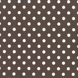 Michael Miller Dumb Dot Brown Cotton Fabric- 