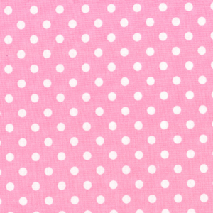 Michael Miller Dumb Dots Candy Cotton Fabric-Michael Miller, dot, dumb, candy, pink, white, cotton, fabric
