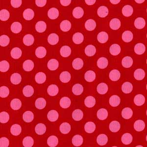 Michael Miller Ta Dot Berry Cotton Fabric-Michael Miller, dot, ta, berry, pink, red cotton, fabric