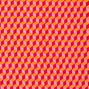 Patty Young Sanctuary Building Blocks Sherbert Cotton Fabric DS4711-Sher-D-patty young, sanctuary, cotton, fabric, pink, building blocks, tumbling blocks pattern, yardage