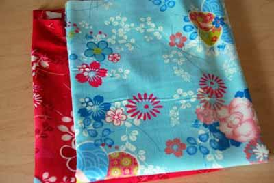 Euro-Asian Oilily-Style Printed Cotton Corduroy Fabric Bundle-European, Asian, cotton, corduroy, pink, blue, oilily