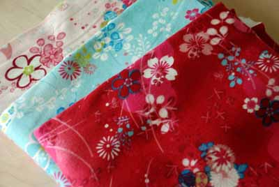 European Oilily Style Cotton Knit Jersey Asian Fabric Bundle-european, asian, oilily style, cotton, fabric, knit, jersey, pink, blue, red, flowers,
