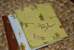 Heather Ross Lightning Bugs Fat Quarter Bundle Daisies-heather ross, lightning bugs and other mysterious things, flowers, free spirit fabric, cotton, sewin