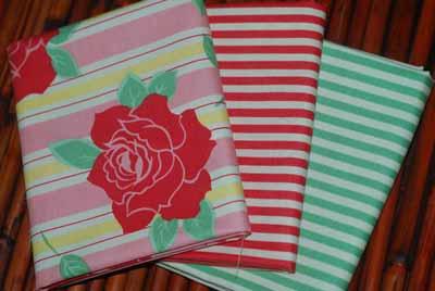 Moda Sweet FQ Bundle 1-moda, sweet, flowers, stripes, red, white, green, retro, urban chiks
