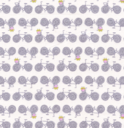 Erin McMorris Weekends Grey Bike Print Cotton Fabric EM23Grey-erin, morris, weekends, bikes, vintag, grey, rose, dots, free spirit fabrics
