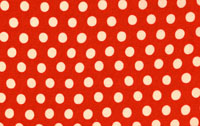 Kaffe Fasset Tomato Spot Cotton Fabric GP70-cotton, fabric, dot, spot, kaffe, fassett, westminster, tomato, red, white