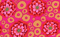 Kaffe Fassett Bubble Flower Magenta Cotton Fabric-kaffe, fassett, bubble, flowers, dots, magenta, pink, beige, cotton, fabric, westminster, fibers, eu