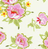 Heather Baily Nicey Jane Church Flowers PInk Cotton Fabric-cotton, fabric, nicey, jane, heather bailey, free spirit fabrics, church flowers, pink